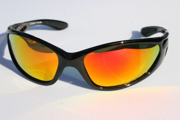 Premium Gloss BLack polarized sunglasses Orange Revo mirror lens Fishing pc760