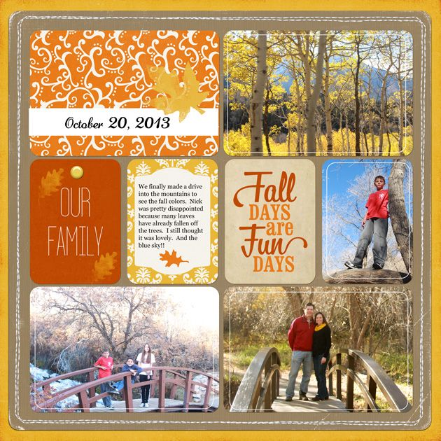 Fall Days Are The Fun Days...traditional layout using pocket cards.