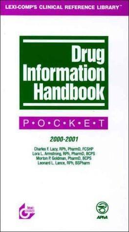 Drug Information Handbook: Pocket, 2000-2001