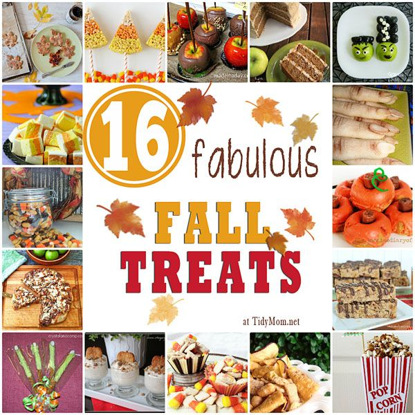 16 Fabulous Fall Treats: Holidays Parties, 16 Fabulous Fall Treats, Fall Decor, Birthday Parties, Tidi Mom Net, Halloween Treats, Autumn Treats, Fabulous Autumn, Fall Seasons