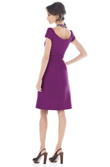 Alfred Sung by Dessy D502 Knee Length Cap Sleeve Bridesmaid Dress
