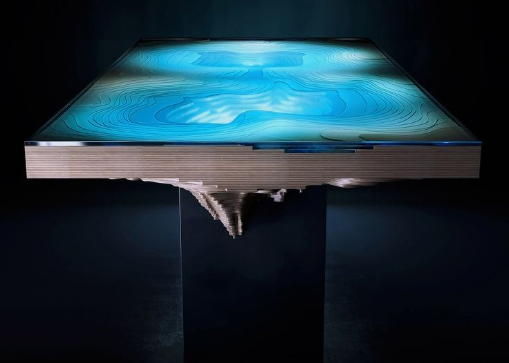 Best Sculpture Images On Pinterest Book Art Carving And Th - Incredible layered glass table mimics oceans depths
