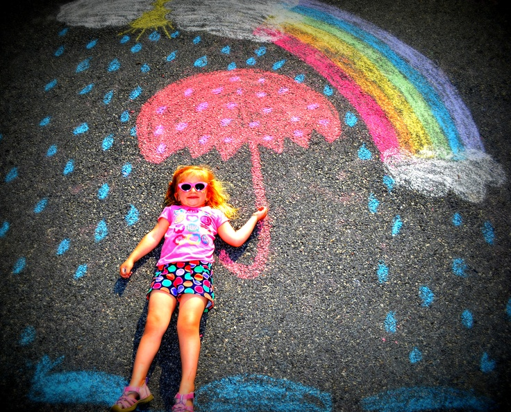 Fun with Sidewalk Chalk!