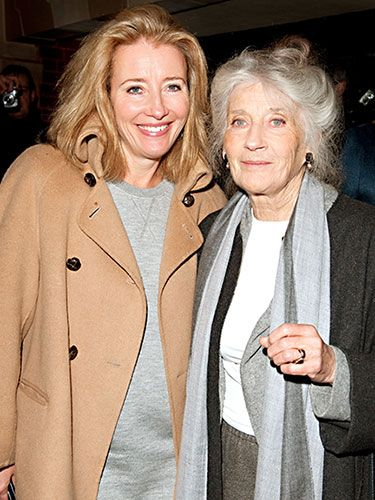"While these Scottish actresses have shared the stage and screen — most notably playing a mother-daughter pair in The Winter Guest — the two also received honorary doctorates in drama from the Royal Conservatoire of Scotland together, which Emma called their ""best starring role together."" The two are literal neighbors, and Emma calls her mother most nights when the family is home so that her mom can join them for dinner."