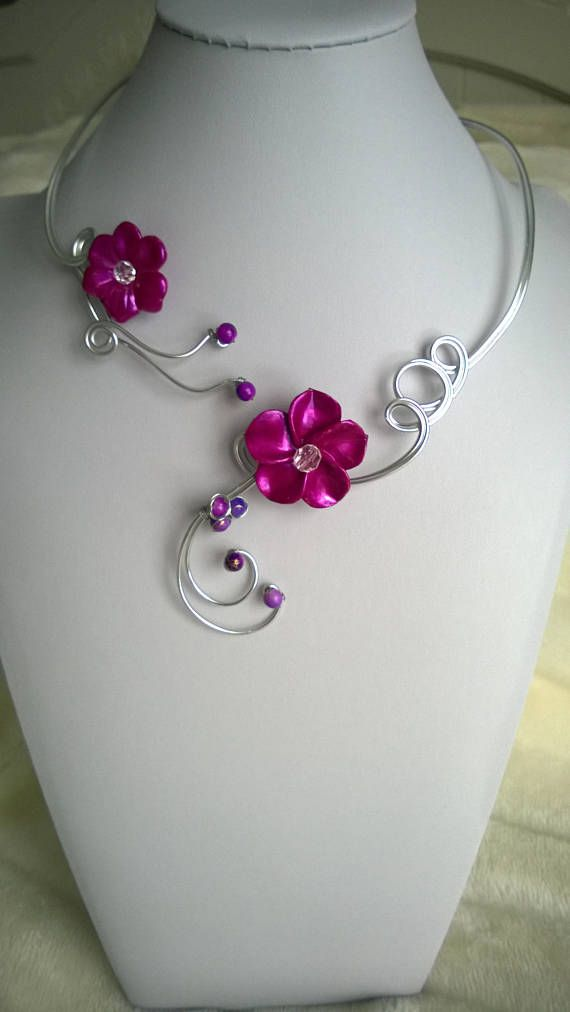 Open collar necklace and earrings wire jewelry wire