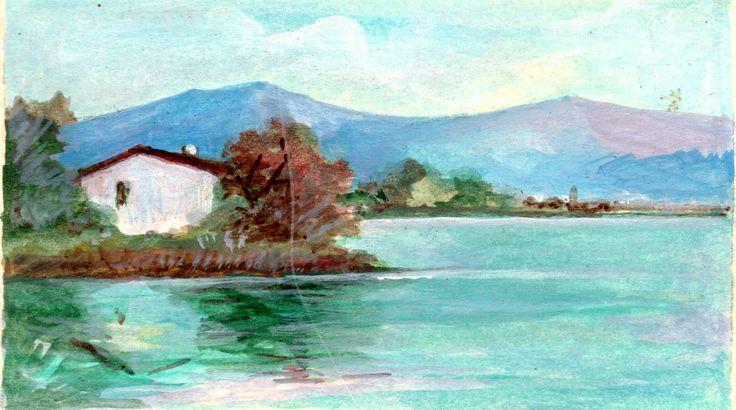 PAOLO SALVATI - Casa sul lago - Opere di fantasia - 1979.