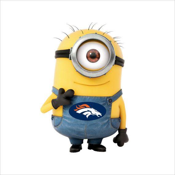Denver Broncos Minion Decal by stickermonkey on Etsy
