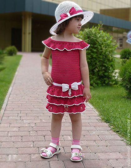 """Crochet clothes set for girl /Одежда для девочек, ручной работы. Нарядный комплект для девочки """"Лето в рюшах"""". Юлия Бедина.  Студия вязания. Ярмарка Мастеров."""