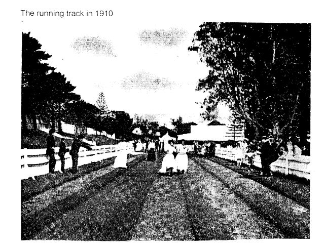 the pleasure grounds opposite the hotel once featured a running track