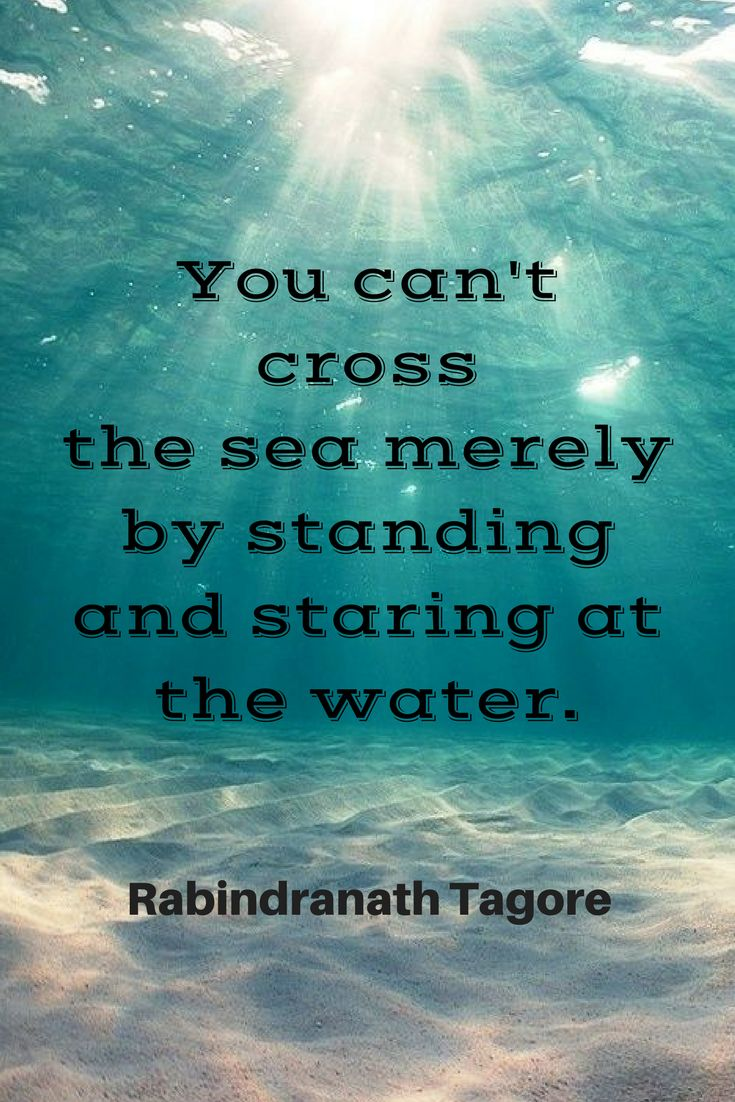 Top and Best Motivational Quotes               You can't cross the sea merely by standing and staring at the water. Rabindranath Tagore