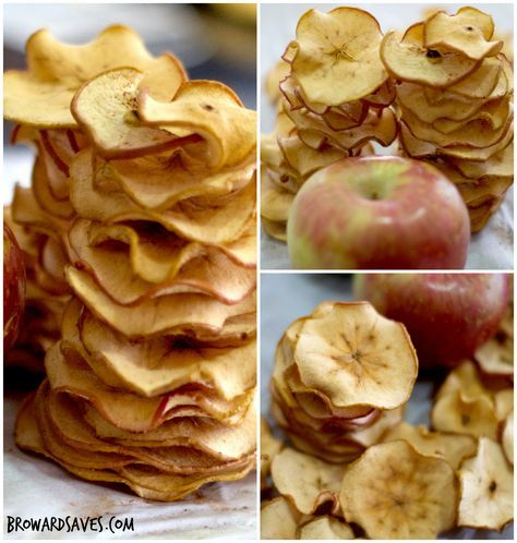 Homemade Crunchy Apple Chips Recipe Summer is here and is time to stock up on snacks for the kids. Hubby and I are thinking of making mini road trips with the girls so making a big batch of Apple Chips is the perfect crunchy and healthy snack for kids to take on the road. So throw out all those fried Potato Chips and these!. To perfect this Apple Chips Recipe it took me a few tries to achieve the right thickness so the chips will be super crunchy and not chewy. You can serve them as kids ...