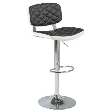 Barová židle Himalaya, černá/bílá
