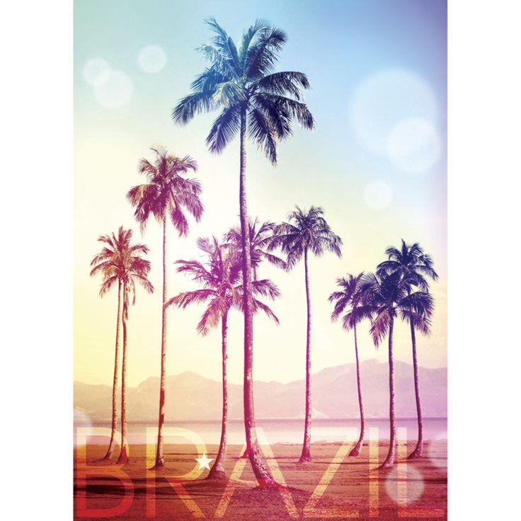 Affiche palmier 50x70cm brazil affiches d coratives - Decoration murale alinea ...