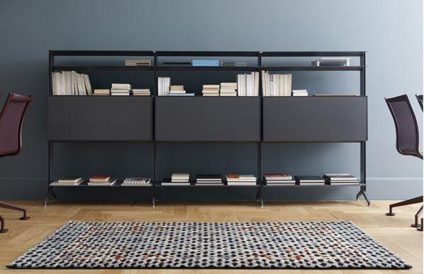 Bibliothèque ouverte modulable en aluminium ALINE S02 Collection Aline by Alias design Dante Bonuccelli