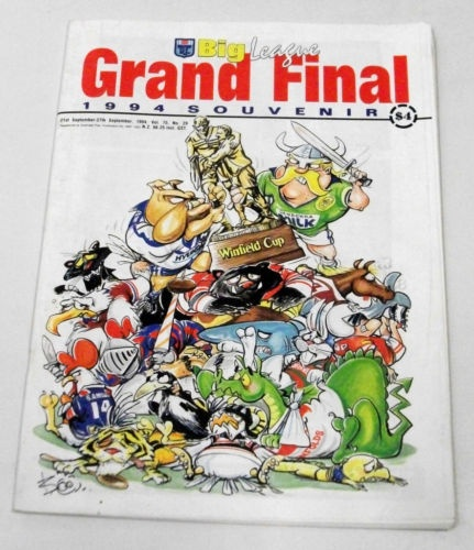 1994 Grand Final Canberra Raiders V Canterbury Bulldogs. Grand Final program, won by the Raiders.