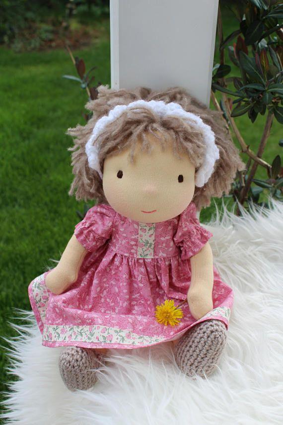 Waldorf doll 125 tall doll steiner doll organic