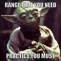 Practice makes perfect So come on down to the range and practice.