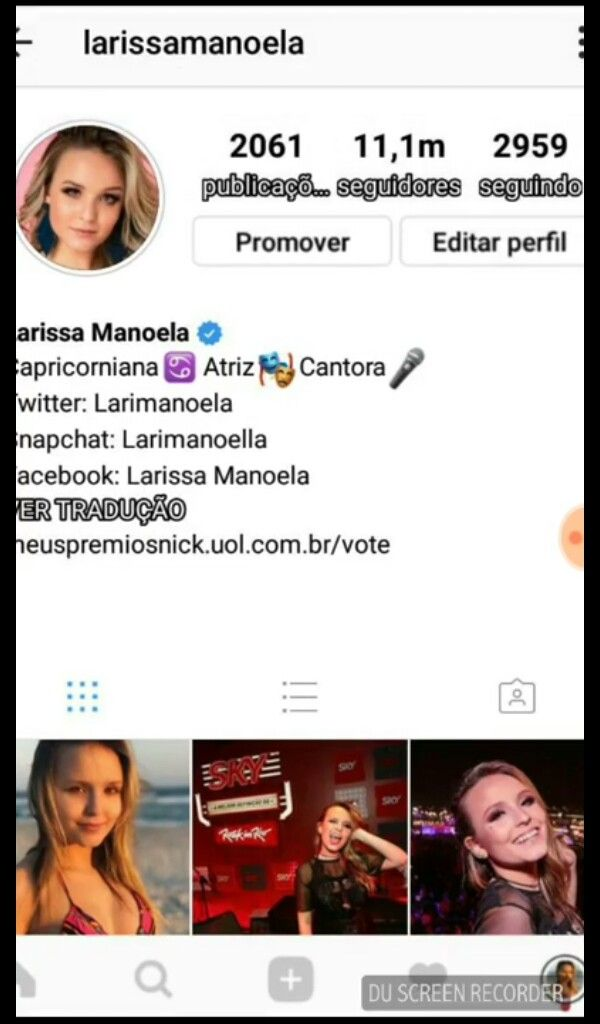 6953128596b45 Uma lari feke me mandouu Instagram Da Larissa Manoela, Fotos Fofas