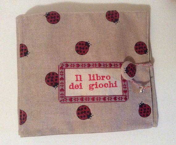 Quiet book, morbido libro di stoffa per i primi anni, gioco interattivo per bambini.