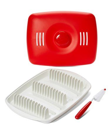 This Red Microwave Vertical Bacon Tray is perfect! #zulilyfinds