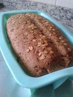 Receita de pão caseiro 100% Integral com linhaça a aveia.