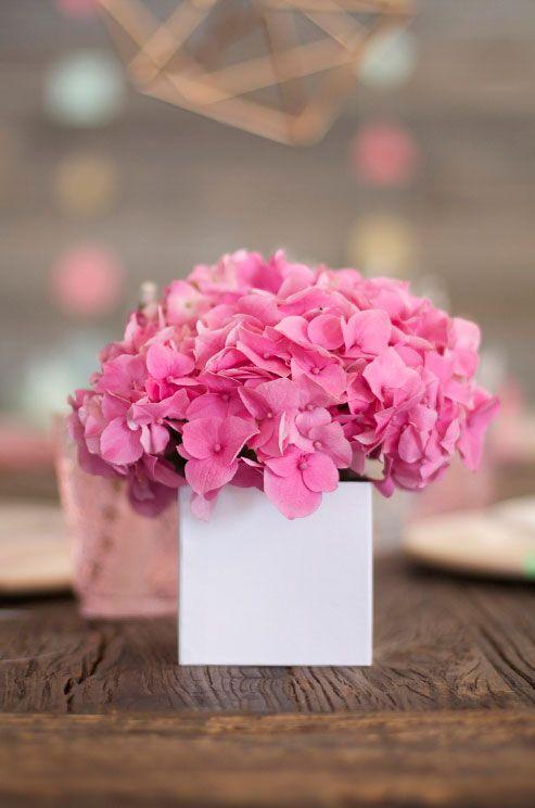 Best ideas about pink hydrangea centerpieces on