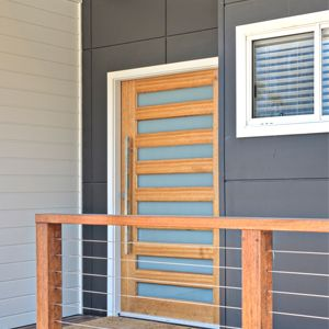 Selfloc cladding in panels and weather boards