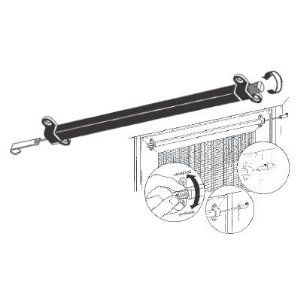 """Sliding Screen Door Closer, Automatic, Black by TechnologyLK. $32.96. This Screen Door Closer fits patio screen doors from 36"""" up to 60"""" wide. Very simple installation - takes only minutes to install on a sliding patio door. Block and Tackle design provides smooth and gentle operation. Color: Black. One Screen Door Closer with Screws per package."""
