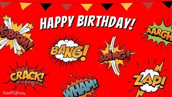 Free Superhero Zoom Background For Boy Virtual Birthday Party In 2020 Boy Birthday Parties Birthday Parties Boy Birthday Party