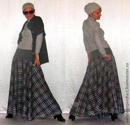 Длинная костюмная юбка