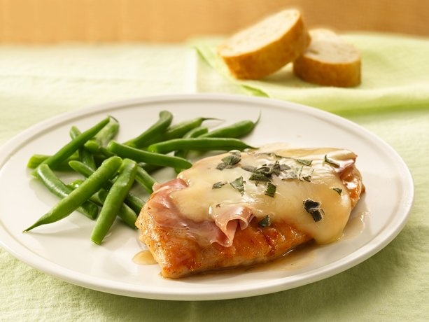 Chicken Saltimbocca. Your choice of thinly-sliced ham may be ...