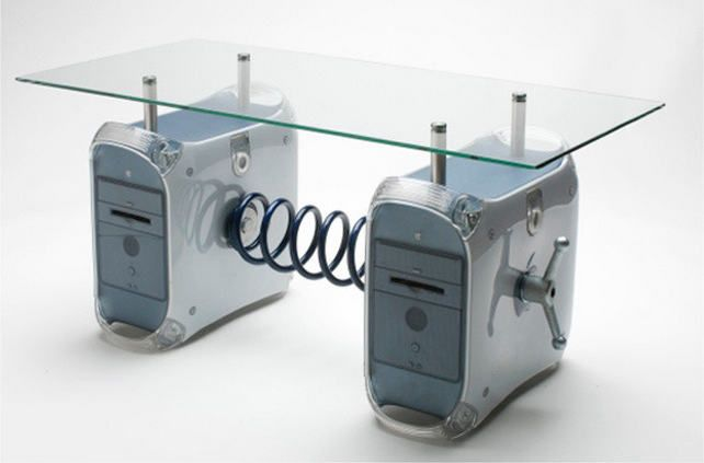 furniture from recycled old computers