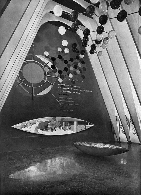 Pavilion of the Montecatini Company Fair of Milan, 1955