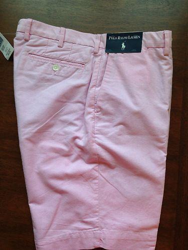 Polo Ralph Lauren Mens Bradbury Golf Casual Sports Shorts 36 NWT Pink MSRP $80