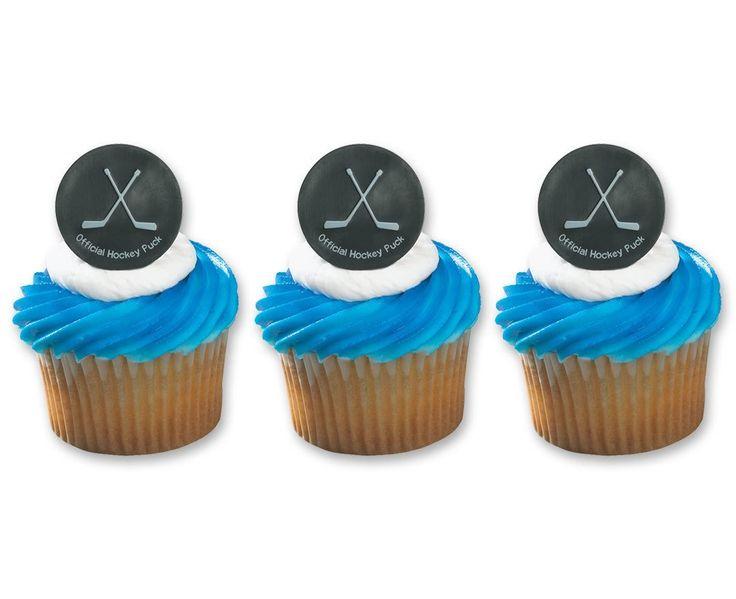 Cupcake Decorating Ideas Hockey : 1000+ ideas about Hockey Cakes on Pinterest Hockey ...