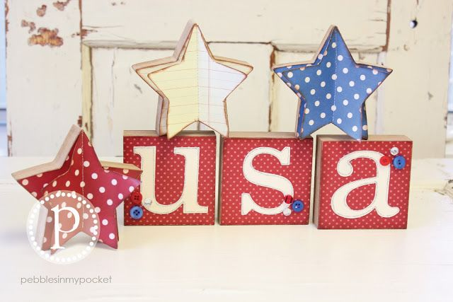 red   white  and blue ood crafts by pebblesinmypocket.com
