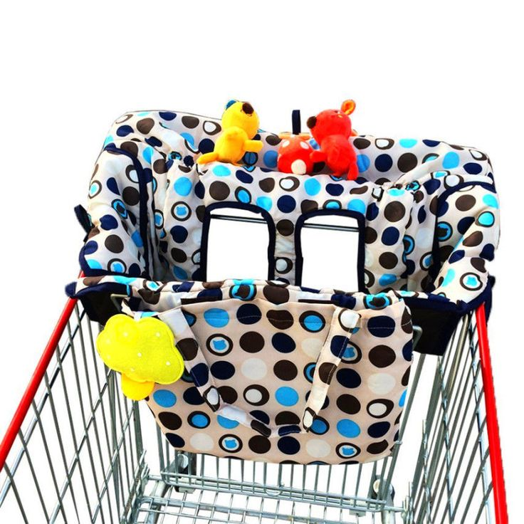 Shopping Cart High Chair Cover For Baby Machine Washable With Safety Seat Belt…