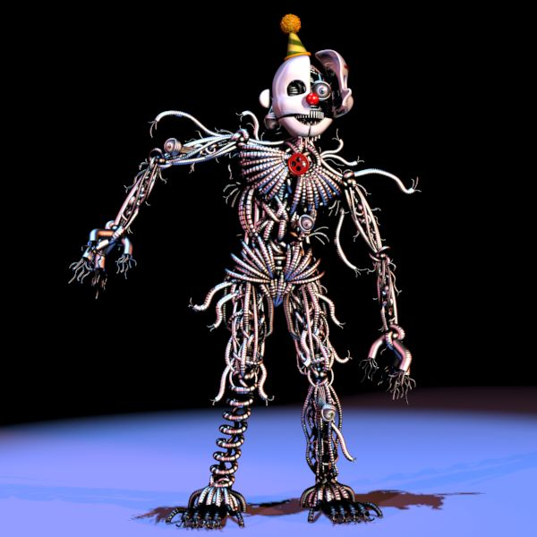 """xdottx: """" So I was looking at this picture of ennard and something came to me. Most people I've seen think ennard is another animatronic, I don't think he's another, I think he's EVERY animatronic. If you look at his body you can see multicolored..."""