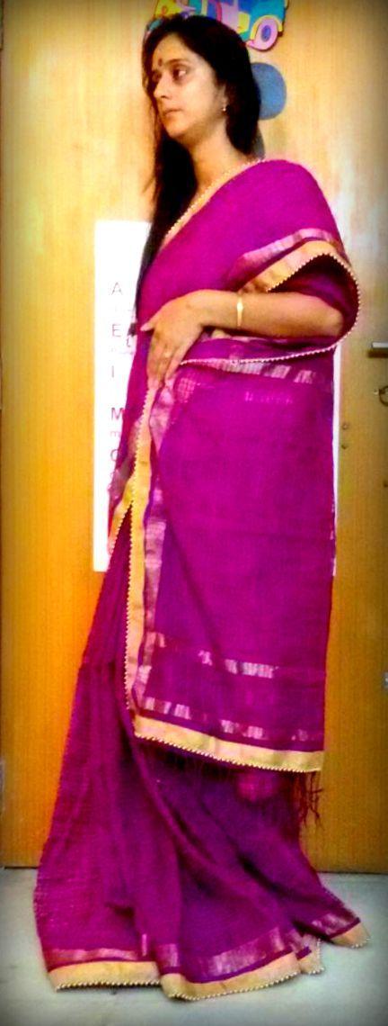 Purple with Golden  border...