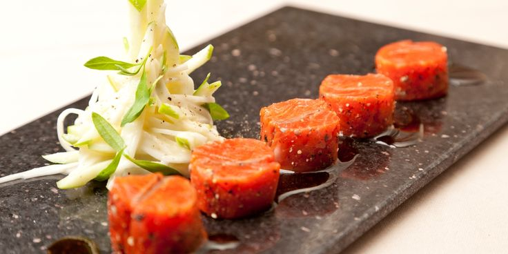 Pascal Aussignac shared his recipe for cured, peppered salmon - a brilliantly simple summer starter