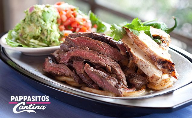 Pappasito's Cantina - Chicken, Beef, Filet Mignon<br>or Shrimp Fajitas