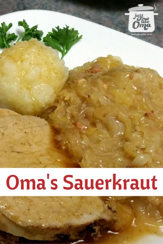 This easy recipe for sauerkraut is a staple in our German menu. Delicious with almost anything! Yes, sauerkraut goes with pork, beef, sausage, noodles, potatoes, dumplings ... and can be VEGAN!