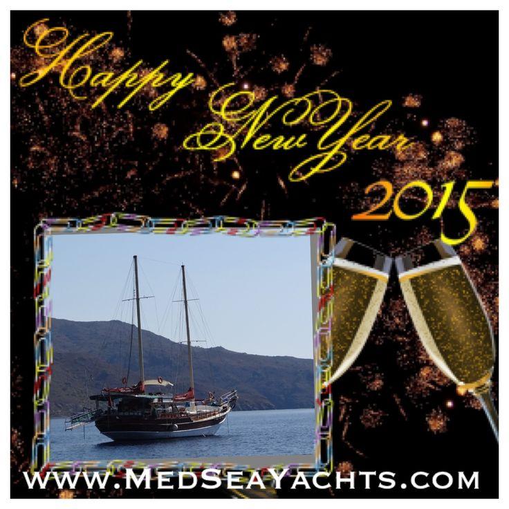 Best Wishes for 2015 from the MedSeaYachts team! www.MedSeaYachts.com