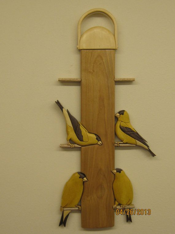 GOLD FINCH Intarsia wood carved by Rakowoods life by RAKOWOODS, $138.00