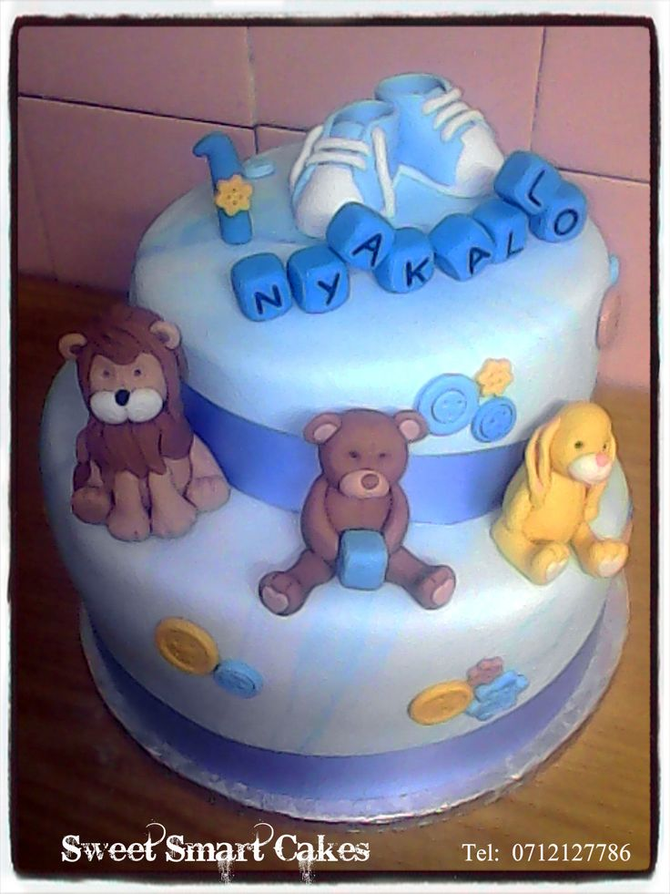 Animal 1st birthday cake For more info & orders, email SweetArtBfn@gmail.com or call/whatsapp 0712127786 (CAKE DECORATING CLASSES AVAILABLE)