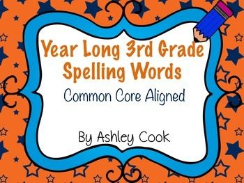 This is a year long spelling program for a traditional calendar. There are 35 weeks of 20 word spelling lists. 15 words and 5 bonus words.  All words follow the Common Core Scope and Sequence for 3rd grade. These follow spelling patterns, high frequency words and content words.