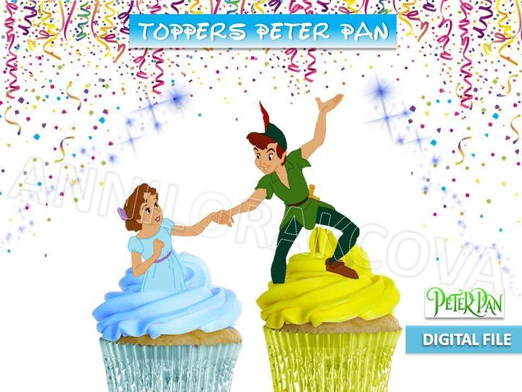 peter pan and wendy wedding cake topper printable disney pan wendy cupcake toppers neverland 18306
