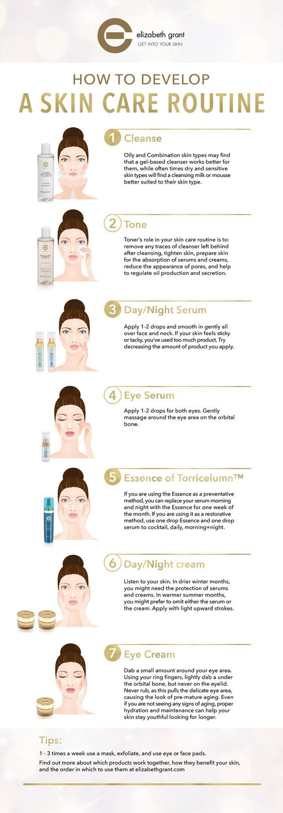 Do you know how to take care of your skin? Here is how you can develop a skin care routine to get the most out of your products.