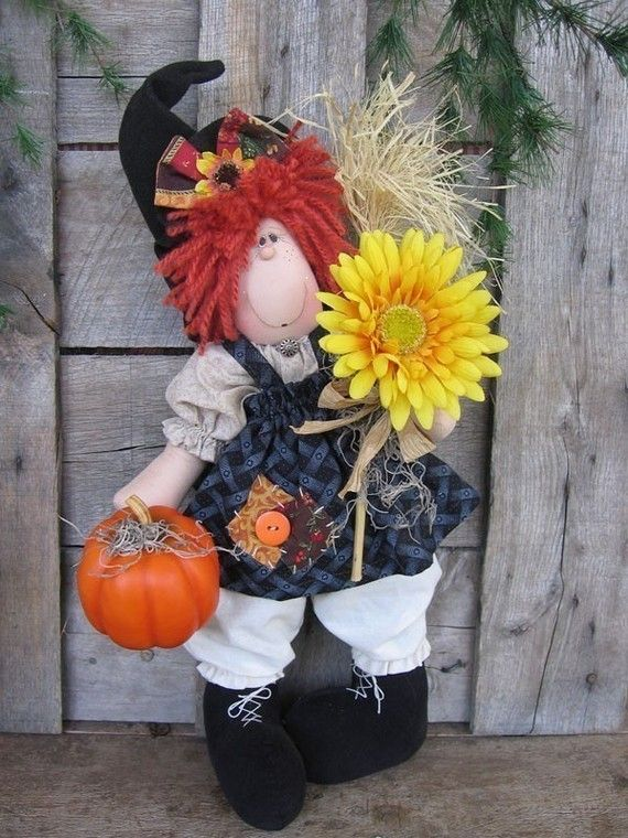 e pattern Holiday Hanna witch doll by DeenasCountryHearth on Etsy, $6.00