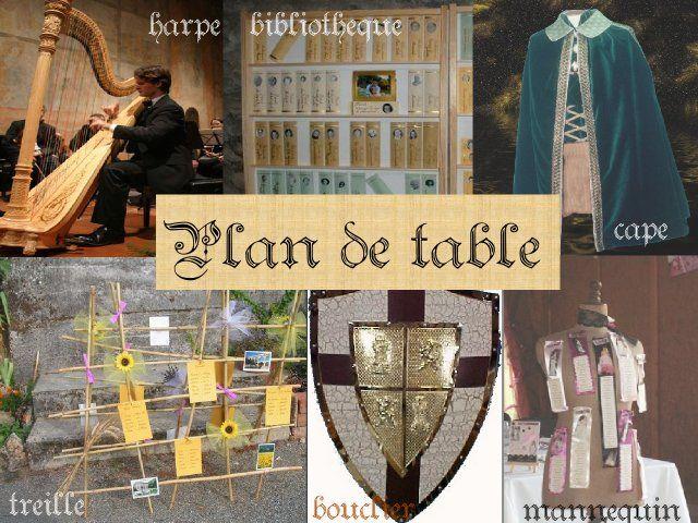 Plan de table en livre